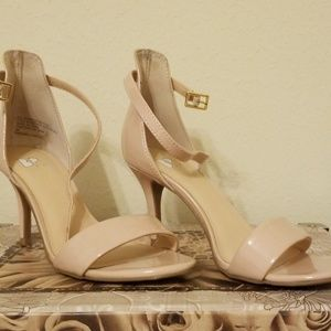 BP Nordstrom patent leather nude heels